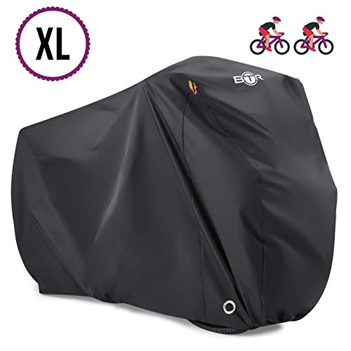 BTR ULTRA Heavy Duty Waterproof Bike Cover. Bicycle Cover Fits Up To 2 Bikes & Comes With Lock Holes and Offers Rain, Dust & UV protection