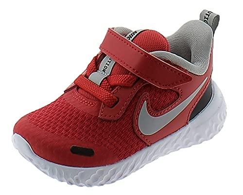 Nike Revolution 5, Zapatillas Deportivas Unisex niños, University Red LT Smoke Grey Black White, 19.5 EU