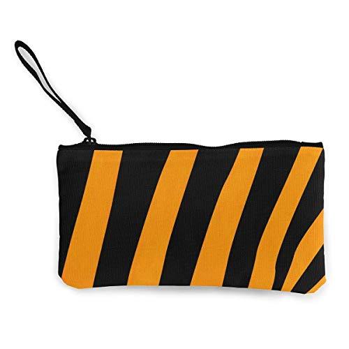 Unisex Wallet, Coin Bags, Canvas Coin Purse Tiger Background Customs Zipper Pouch Wallet for Cash Bank Car Passport