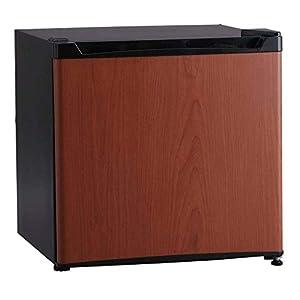 アイリスプラザ 冷蔵庫 46L 1ドア 小型 右開き 幅47cm 木目調 ダークウッド PRC-B051D-M