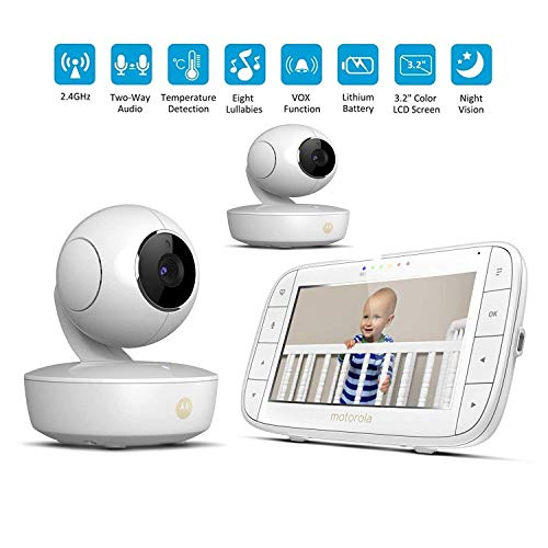 Buy MRXUE Baby Monitor Wireless Voice Intercom Dual Camera Rechargeable Baby Care Device Intelligent...