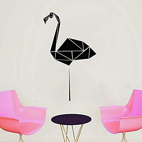 Flamingo Geometric Wall Decal Polygon Animal Vinilo Adhesivo |Origami Wall Art Design Decoración del hogar Simple Mural 57X95cm
