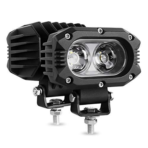 Autofeel LED pods Light 2PCS 4 Inch 80W Flood Light Bars Single Row 8000LM Off Road Driving Fog Light for Truck SUV Boat