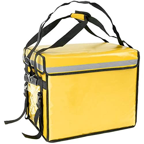 CityBAG - Bolsa isotérmica 44 x 39 x 34 cm Amarilla para Comidas al Aire Libre y Entrega de Pedidos de Comida en Moto o Bicicleta