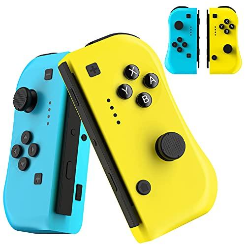 Diswoeee Controller Wireless Compatibile per Switch, Controllers Gamepad Joystick per Nintendo Switch, Doppio Shock Giroscopio a 6 Assi, Compatibile con Nintendo Switch/Switch Lite