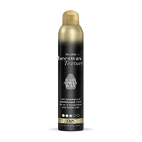 OGX Flexible + Beeswax Texture Hair Spray Wax, Black, 6 Oz