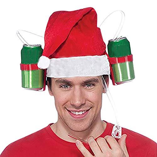 Fanteecy Guzzler Drinking Helmet-Drinker Beer and Soda Guzzler Helmet-Beer Soda Guzzler Helmet Drinking Party Hat Green