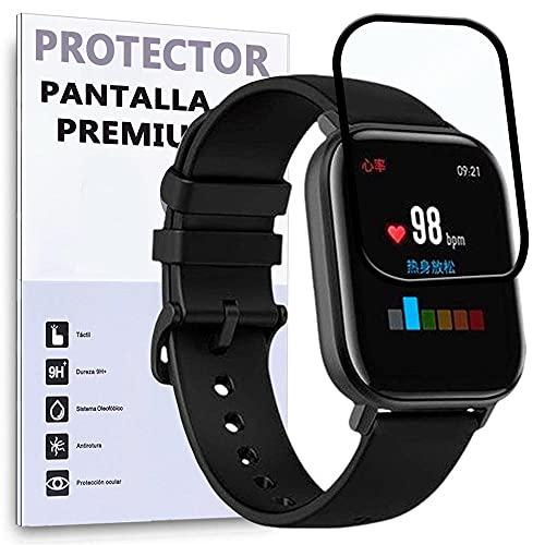Protector de Pantalla Curvo para XIAOMI AMAZFIT GTS - XIAOMI AMAZFIT GTS 2, Negro, Reloj SmartWatch, 3D / 4D / 5D