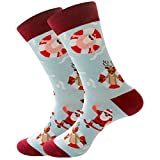 [USA in Stock] Unisex Christmas Cotton Crew Socks Gift, Colorful Printed Fun Festive Cozy Ankle Socks for Women Men -  YU.Dafe