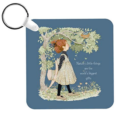 Holly Hobbie Natures Little Things Light Text Keyring