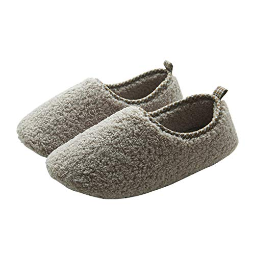 Twnhmj Zapatillas de Casa Mujer Hombre Zuecos de Algodón Comodas Transpirable Casual Pantuflas Exterior y Interior,Light Gray,35/37