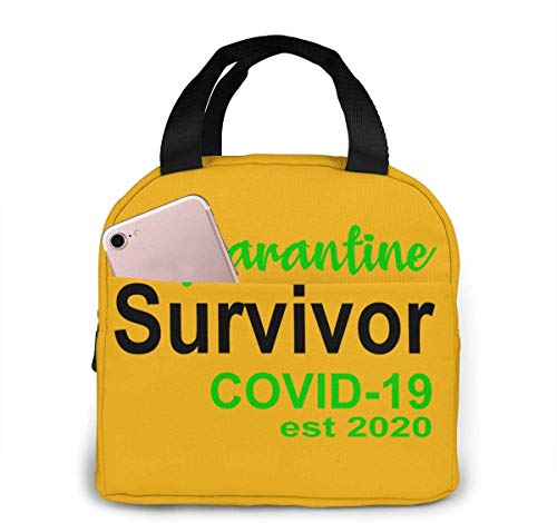 CORONAVIRUS Lunch Bag Insulated Lunch Box Waterproof Meal Prep Cooler Tote For Picnic Camping Work Travel for adults or kids