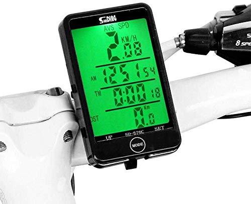 Bicicletas ordenador cuentakilómetros velocímetro Cronómetro bicicletas táctil retroiluminada con grandes pantalla Distancia...