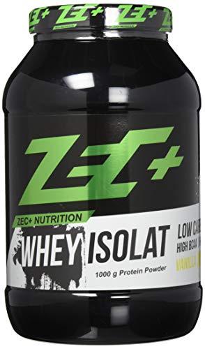 ZEC+ Whey Isolat – 1000 g, Molkenprotein Eiweißpulver, Geschmack Vanille