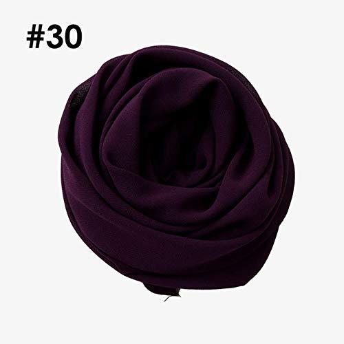 Een stuk hoge kwaliteit hete vrouwen moslim solide vlakte chiffon hijabs lange georgette sjaal sjaals islamitische hoofddeksels sjaals