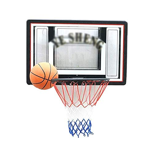 SMLZV Basketball Wandmontage Boards, Outdoor/Indoor Basketballkorb, Transparent Backboard Teens Backboard, Net Set hängend, Außensport (90x60cm)