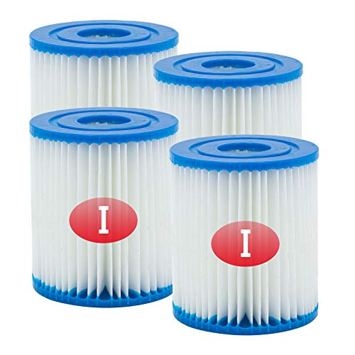 SKTLBB Type I Pool Filter Cartridge for Bestway, 3.11 x 3.46 Inch Size I for Swimming Pool Filter,Filter Cartridge for Hot Tub and Swimming Pools Cleaning, Pool Filter Universal Replacements (4 Pcs)