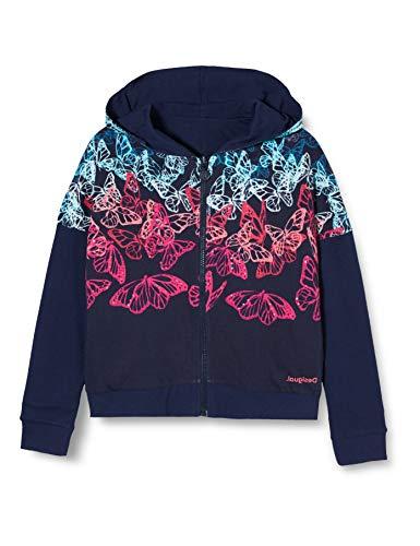 Desigual Mädchen Sweat_Carolina Sweatshirt, Blau (Navy 5000), 128 (Herstellergröße: 7/8)