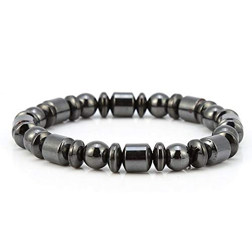 Magnetic Bracelet, 3pcs Unisex Stylish Weight Loss Black Stone Bracelet Health Care Bracelet Women Men Gifts for Parents Friends