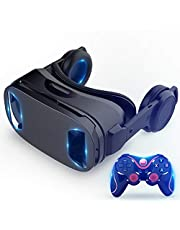 New VR Glasses All-in-one Blu-ray Smart Helmet 120°View Panoramic VR 3D Virtual Reality Glasses Compatible with 4.5-6 inch Smartphones (Color : VR1)