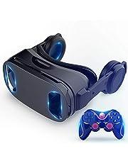 نظارات الواقع الافتراضي الجديدة الكل في واحد خوذة بلو راي سمارت بانورامية 120 درجة رؤية نظارات الواقع الافتراضي ثلاثية الأبعاد متوافقة مع الهواتف الذكية 4.5-6 بوصة (اللون: VR1)