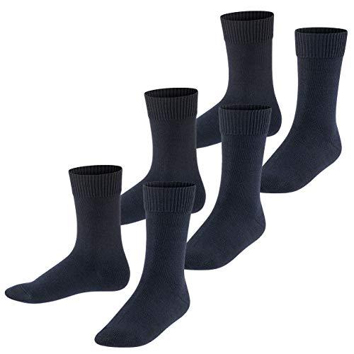 FALKE Kinder Socken Comfort Wool 3er Pack, Größe:31-34;Farbe:dark marine