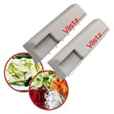 RAZOR SHARP STAINLESS STEEL BLADES BPA-free, razor sharp blades slice vegetables and fruits into thin spaghetti or pappardelle-sized noodles. Easily turn squash into pappardelle, or zucchini into spaghetti! The Vastabilities are endless. IDEAL FOR HE...