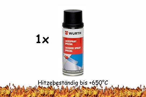 Würth Lackspray Spezial RAL9005 schwarz matt 400ml - hitzefest bis 650 °C