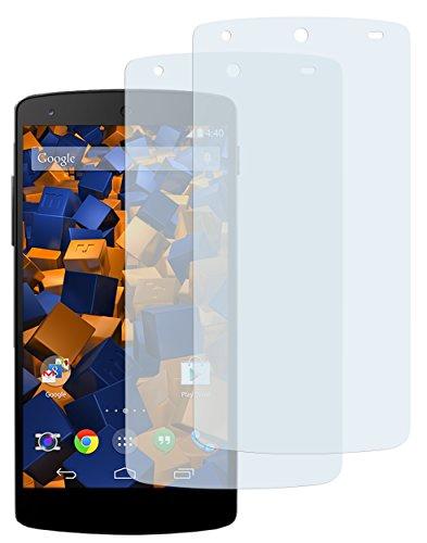mumbi Schutzfolie kompatibel mit LG Google Nexus 5 Folie klar, Bildschirmschutzfolie (2X)