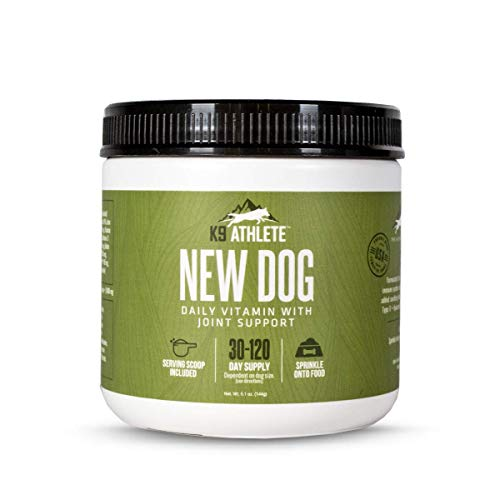 K9 Athlete™: New Dog, Daily Vitamin with Joint Support, 60 Day Supply, Support Your K9's Performance, Recovery, Joint Health and More