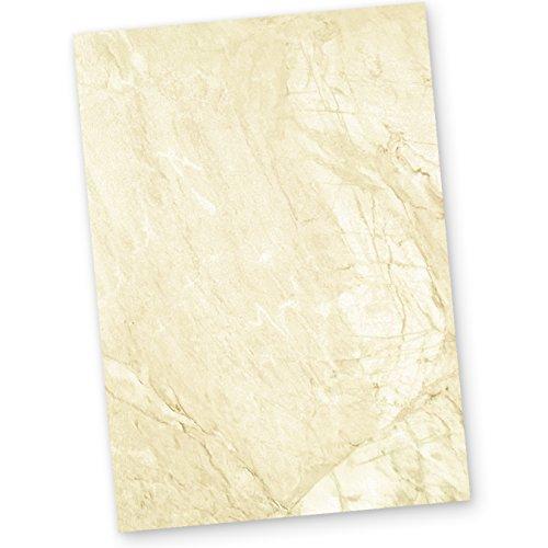 Karton marmoriert A4 (250 Stück) 170 g/qm Beidseitig braun, Speisekarten Blätter Urkunden-Papier