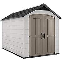 Keter Montfort 7.5' x 11' Resin Outdoor Storage Shed (Gray)