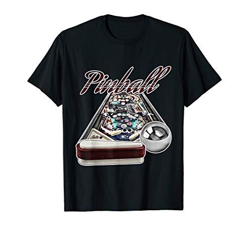 Flipper Pinball Retro Gamer Arcade Automat Spielautomat USA T-Shirt