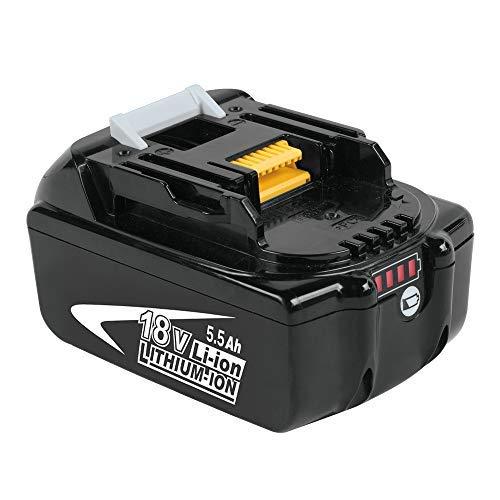 Moticett BL1860B 18V 5.5Ah Reemplazo de Batería de para Makita 18v Batería BL1850 BL1860B BL1860 BL1840 BL1835 BL1830 BL1815 LXT-400 con indicador