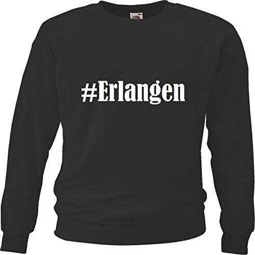 Reifen-Markt Sweatshirt Damen #Erlangen Größe XL Farbe Schwarz Druck Weiss