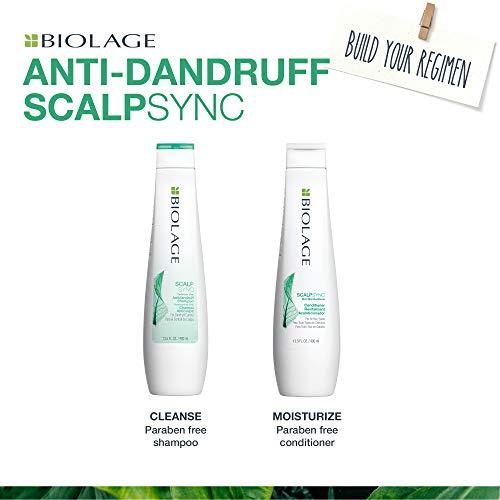 BIOLAGE Scalpsync Anti-Dandruff Shampoo | Targets Dandruff, Controls The Appearance of Flakes & Relieves Scalp Irritation | Paraben-Free | For Dandruff Control |33.8 Fl. Oz.