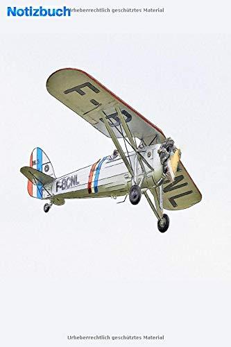 Notizbuch: Klassisches Vintage-Flugzeug am Himmel: 6