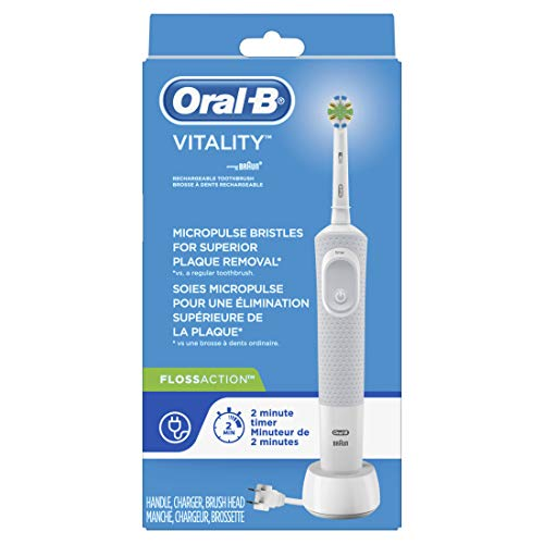 Price comparison product image Oral-B Vitality FlossAction Rechargeable Battery Electric Toothbrush with Automatic Timer,  Powered by Braun (Product Design & Packaging May Vary)