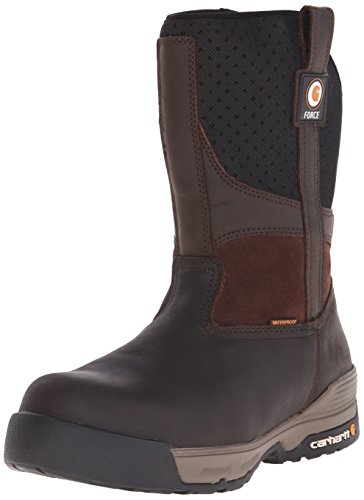 """Carhartt Men's 10"""" Force Lightweight Waterproof Composite Toe Work Boot CMA1310, Brown Coated Leather, 9.5 W US"""