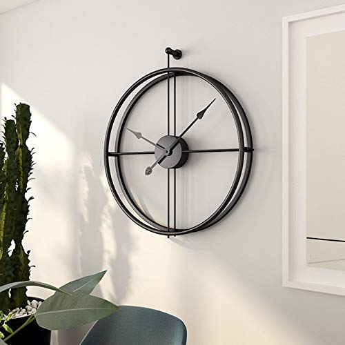 Mdsfe Nordic wall clock modern design large wall clock office living room decoration mute large kitchen wall watch - C, 50CM