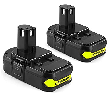 ANTRobut 2Pack P102 2.0Ah Ryobi 18V Lithium Battery Replacement for Ryobi One Plus P104 P105 P102 P103 P107 P108 Tools battery