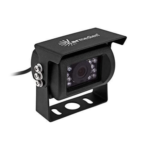 Carmedien Rückfahrkamera IR18S schwarz Edelstahl IP68 120° 12V 24V Wohnmobil LKW 3 Jahre Garantie