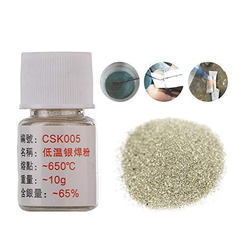 Verano encantador Polvo para soldadura fuerte de latón plateado de pasta de baja temperatura para soldadura Procesamiento de joyas