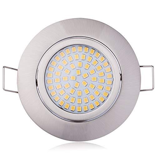 HCFEI 3er set LED 4W Slim Spot Einbaustrahler schwenkbar 230V Edelstahl Strahler Einbauleuchte Naturalweiß 4000K Einbautiefe 20mm