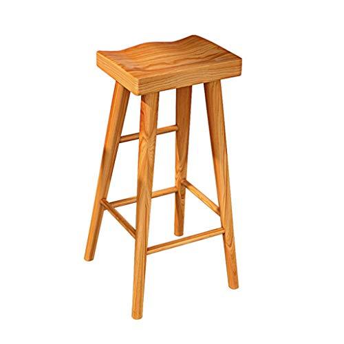 Houten barkruk Barkruk Hoge kruk Eetkamerstoel Cafe Bureaustoel Office Home Chair Keuken/woonkamer/slaapkamer Stoel (Color : Teak color, Size : 75cm)