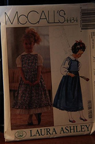 McCall's Pattern 4434 Size CF (4-5-6) / Laura Ashley / Children's And Girls' Jumper, Blouse And Petticoat