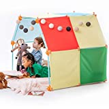 Kizihaus Fort Building kit (Balls and Sticks Kit) with Storage Bag - Kids Fort | Fort kit | Fort Builder | Indoor Fort | Blanket Fort | Large Fort Making Kit | Child Tent Indoor