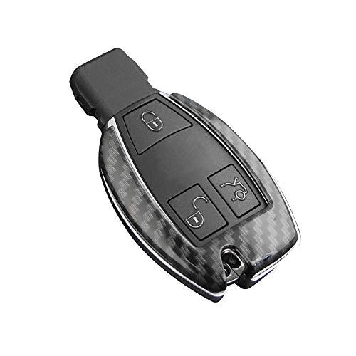 Funda de Fibra de Carbono Funda Fob Soporte ABS Cubierta de Cubierta Dura Piezas aptas para Mercedes