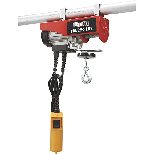Ironton Electric Cable Hoist -110-Lb. Single-Line Capacity, 220-Lb. Double-Line Capacity, 38ft./19ft. Lift Height
