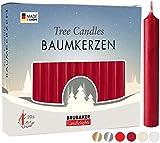 Brubaker 20 Confezioni di Candele per Albero Cera - Candele di Natale Candele Piramide Candele Dell'Albero di Natale - Rosso Scuro